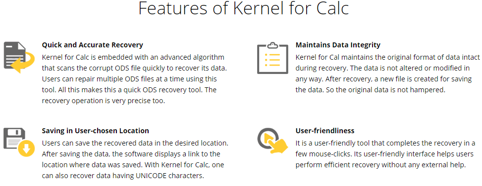 Kernel for Calc Feature