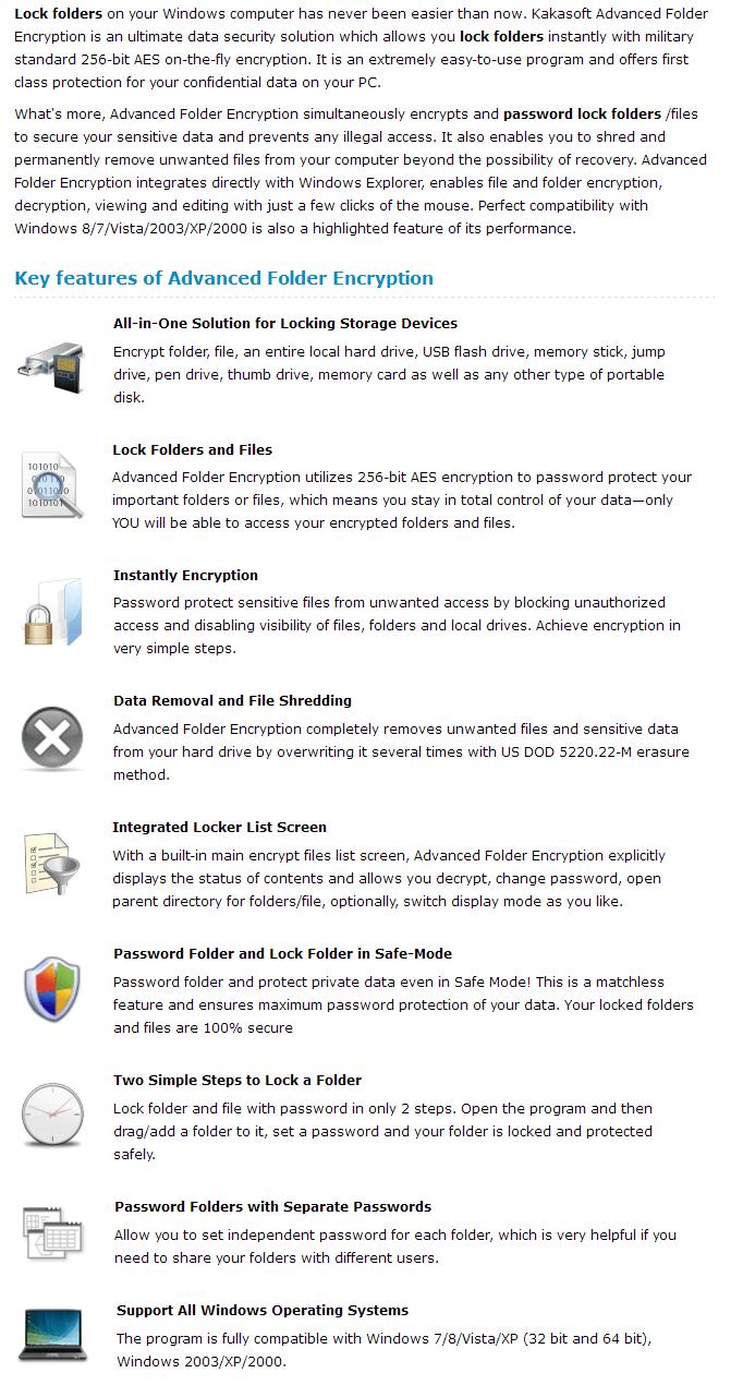 Advanced Folder Encryption