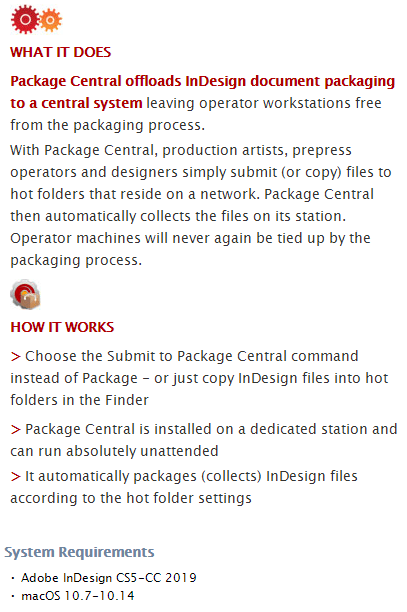 Zevrix Package Central Feature