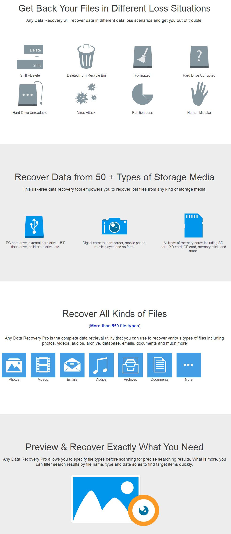 Tenorshare Any Data Recovery Pro Feature