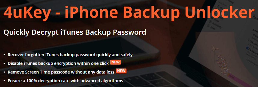 Tenorshare iPhone Backup Unlocker Feature