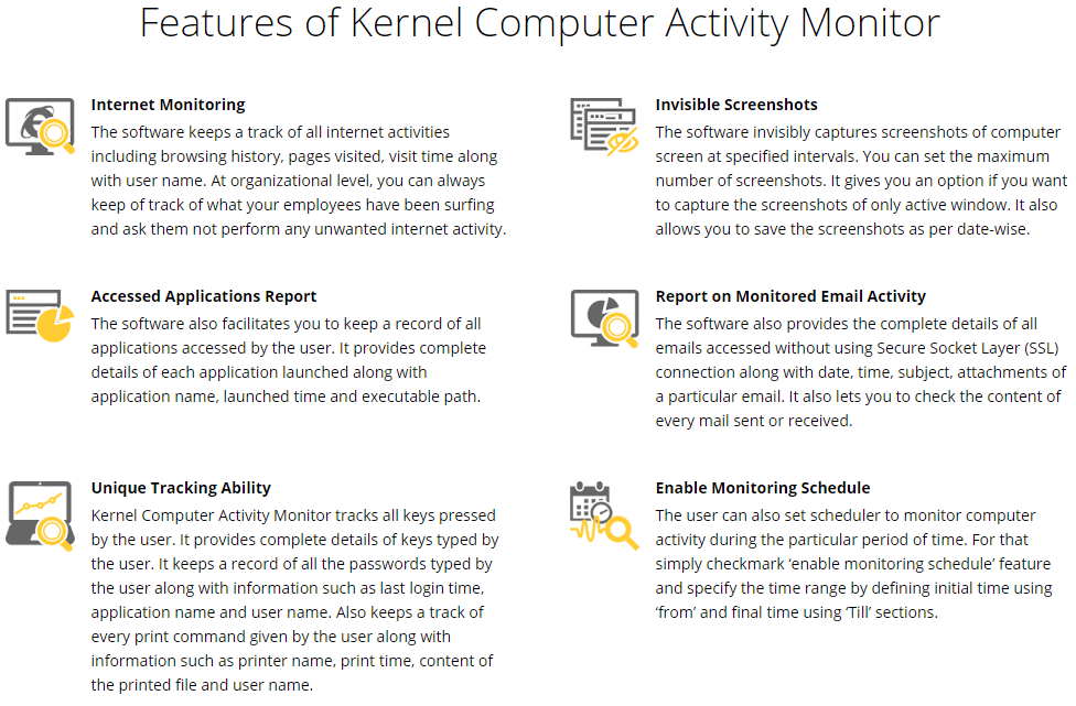 Kernel Computer Activity Monitor Online Shopping, Price, Free Trial