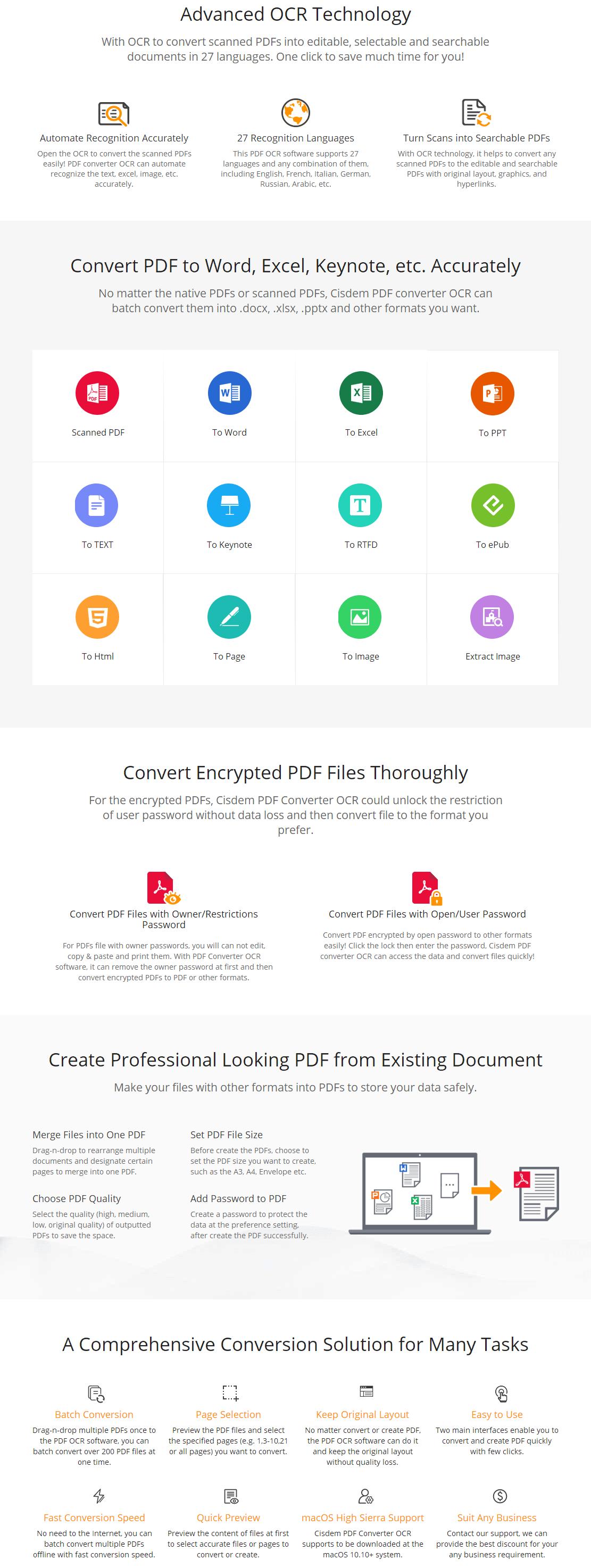 Cisdem PDFConverterOCR for Mac 45% Discount