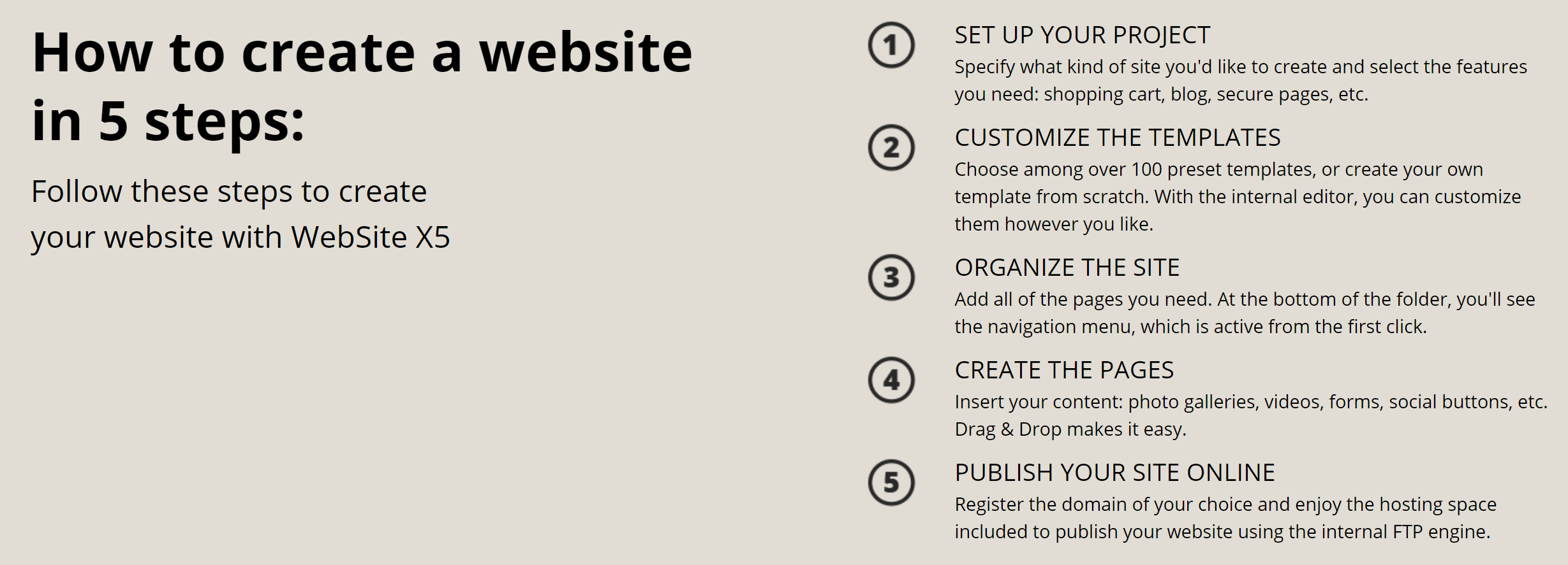 WebSite X5 Feature