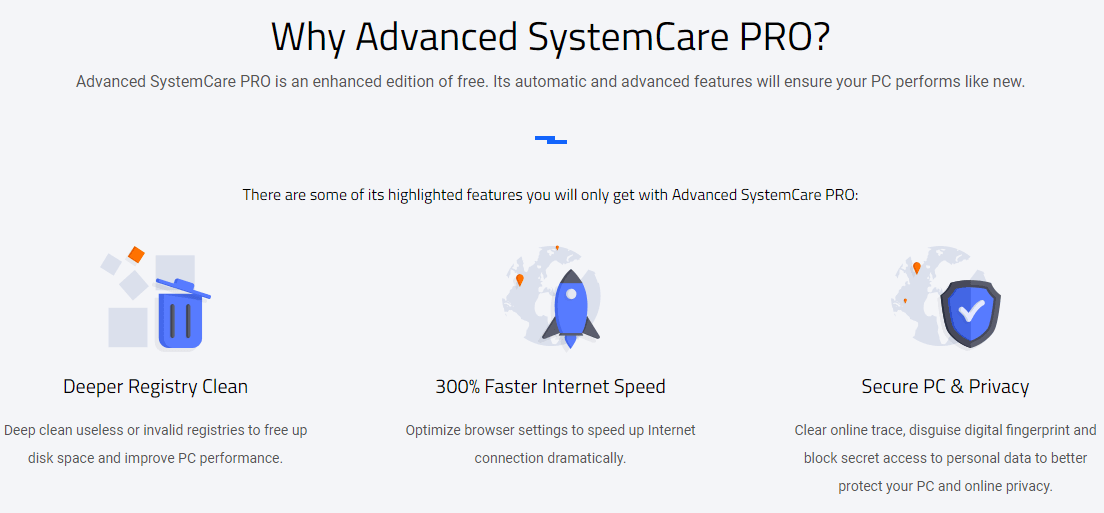 Advanced SystemCare Pro Feature