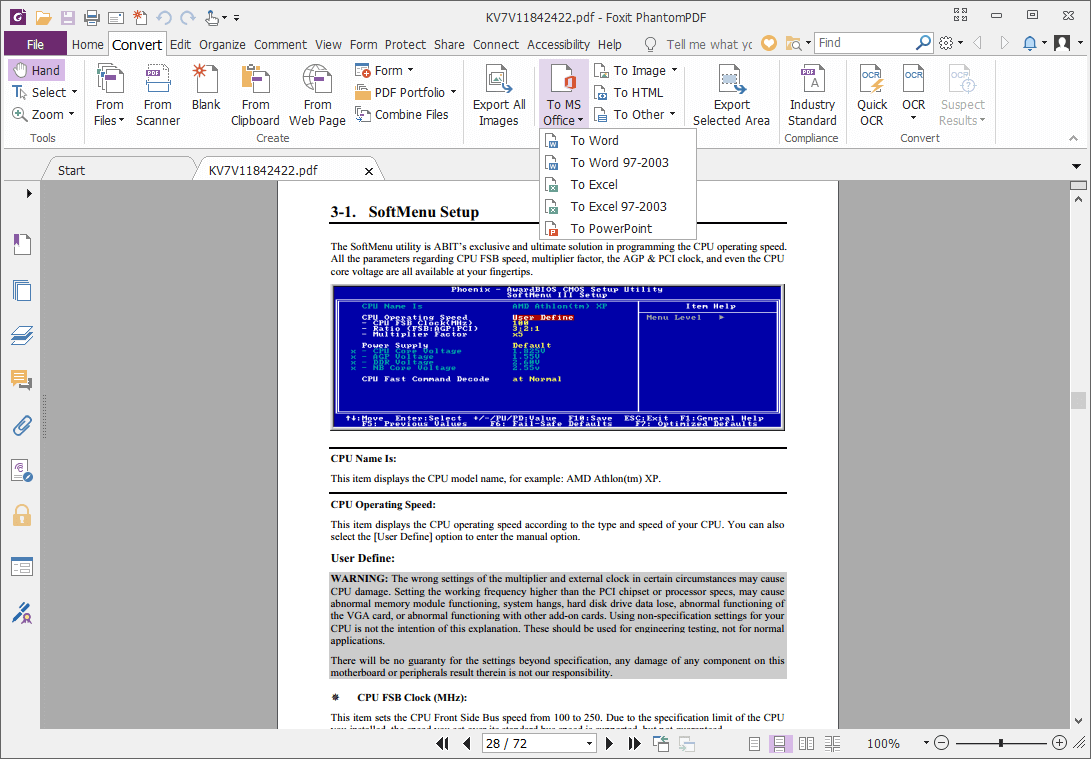 Foxit PhantomPDF Screenshot