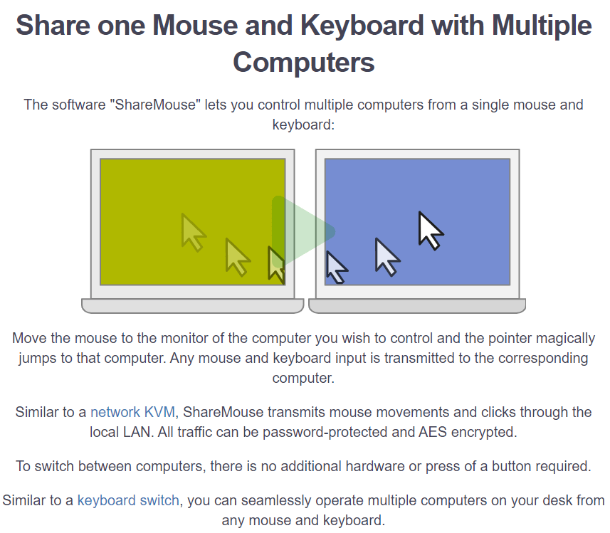 ShareMouse's Feature