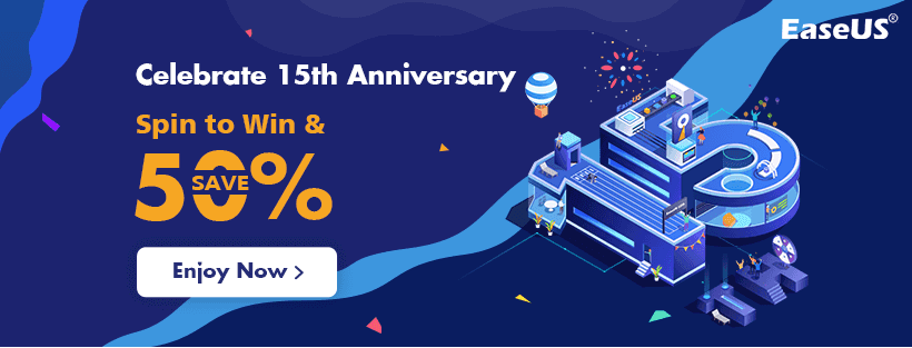 50% off EaseUS 15th Anniversary Celebration