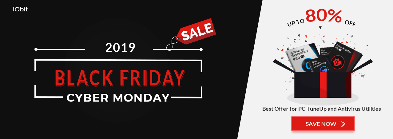 IObit 2019 Black Friday & Cyber Monday Sale