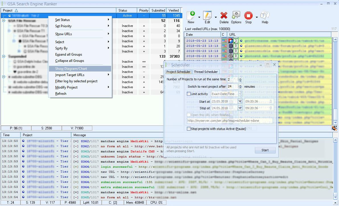 GSA Search Engine Ranker Screenshot