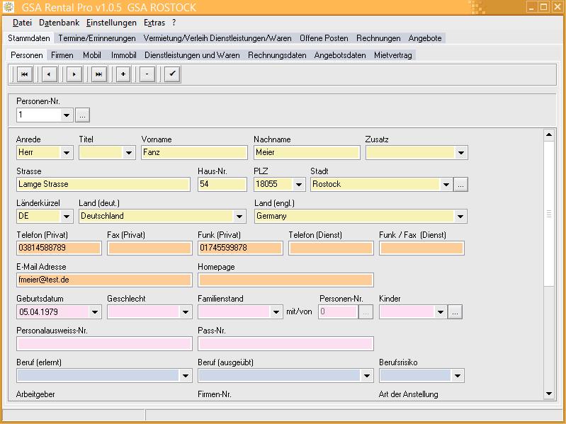GSA Rental Pro Screenshot