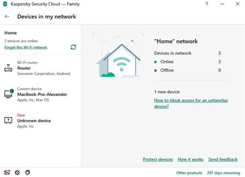 Kaspersky Security Cloud Screenshot