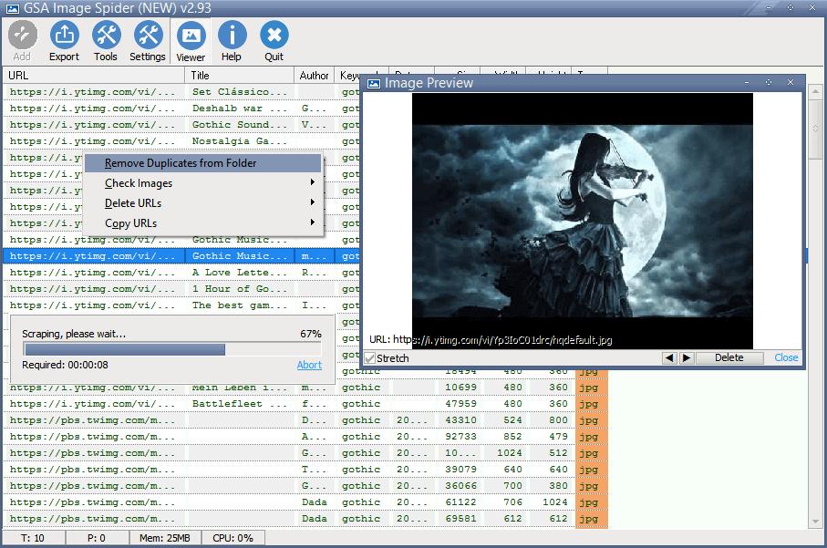 GSA Image Spider Screenshot