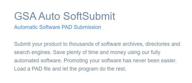 GSA Auto SoftSubmit's Feature