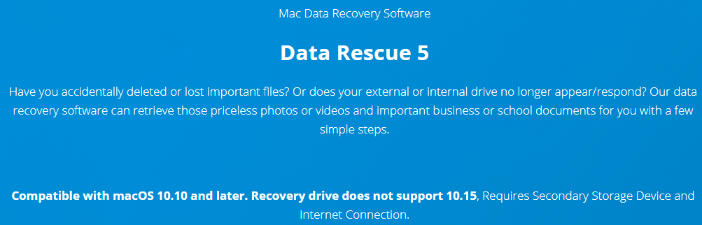 Data Rescue Mac's Feature