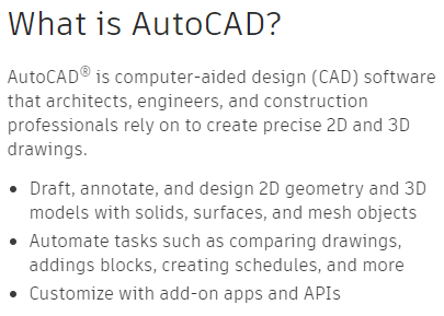 AutoCAD's Feature