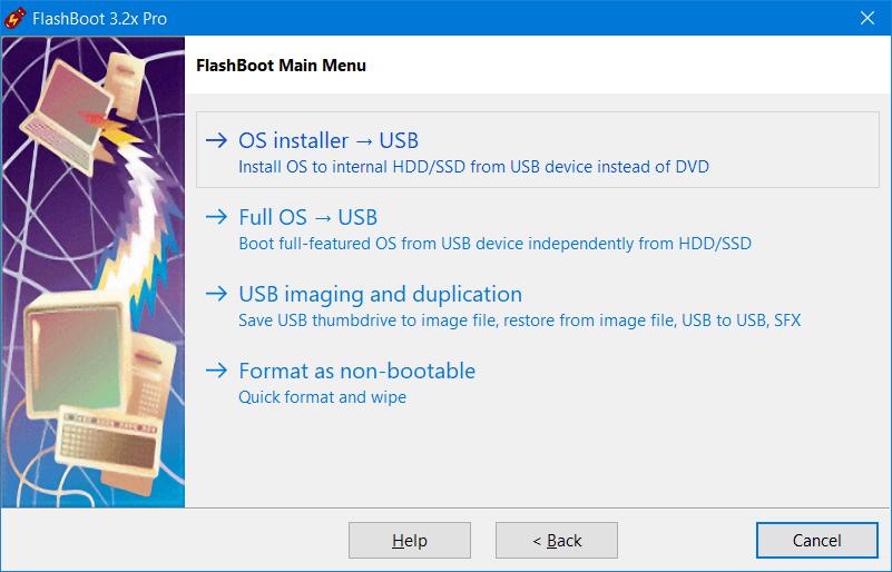 FlashBoot Pro Screenshot