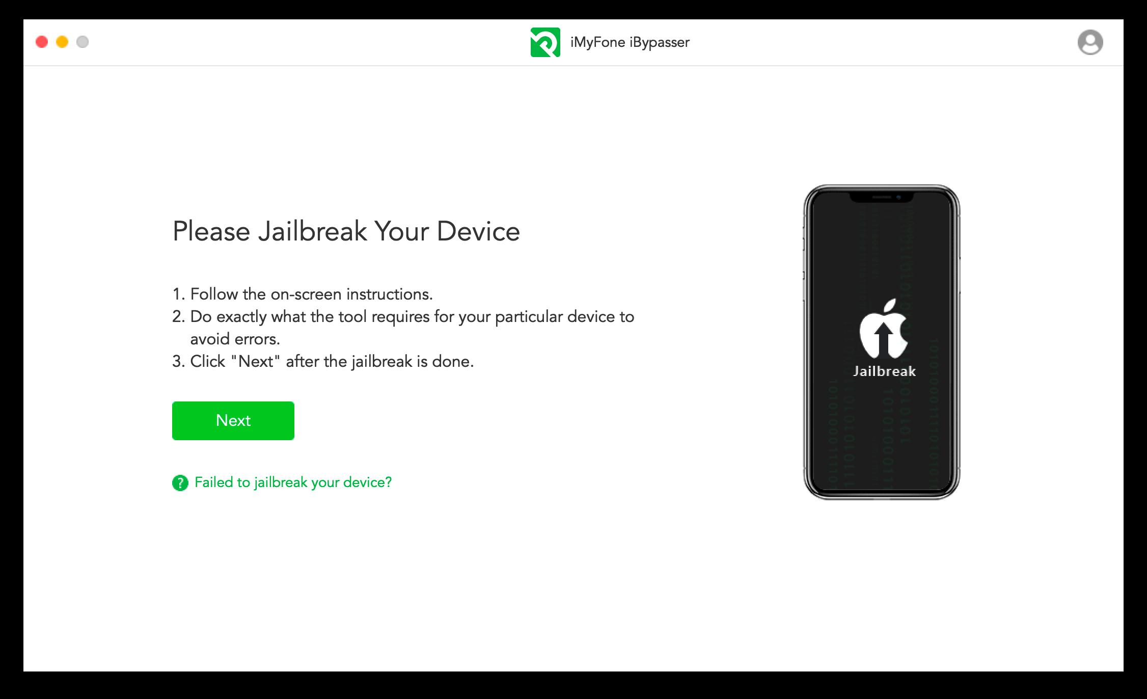 iMyFone iBypasser Screenshot