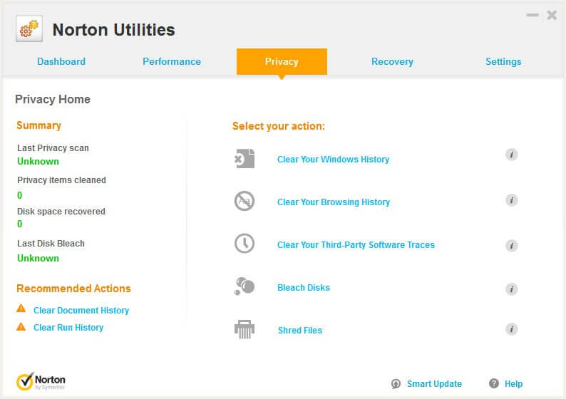 Norton Utilities Screenshot