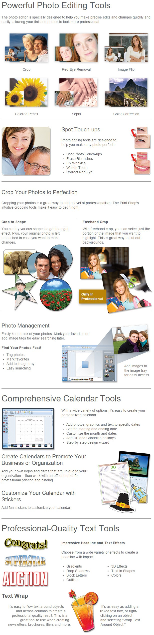 The Print Shop Professional Photo Editing Feature