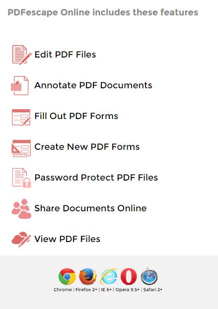 pdfescape online pdf editor official download freeware