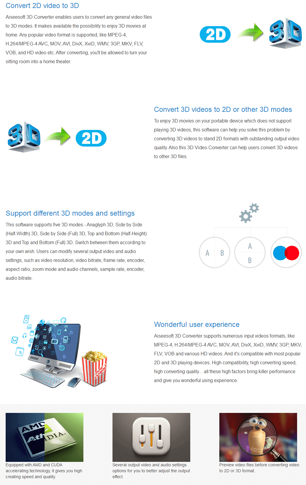 Aiseesoft 3D Converter key Features
