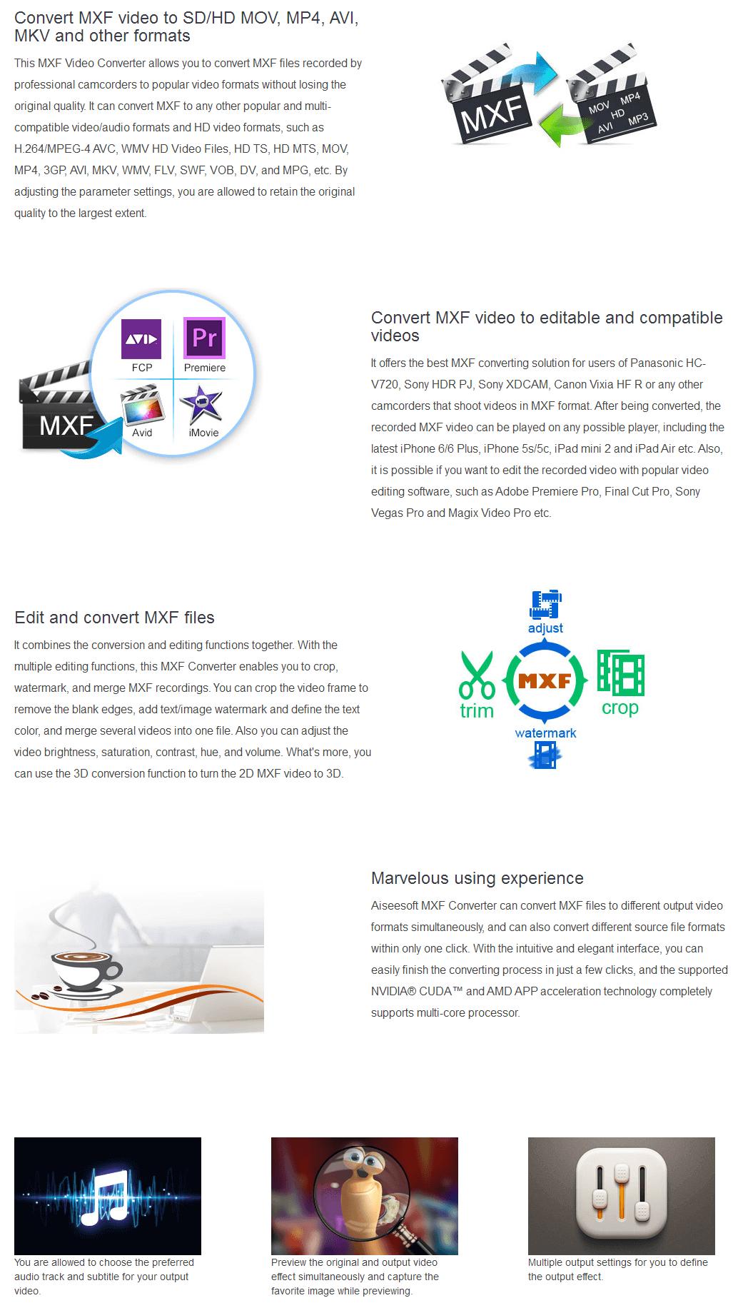 Aiseesoft MXF Converter 50% Discount