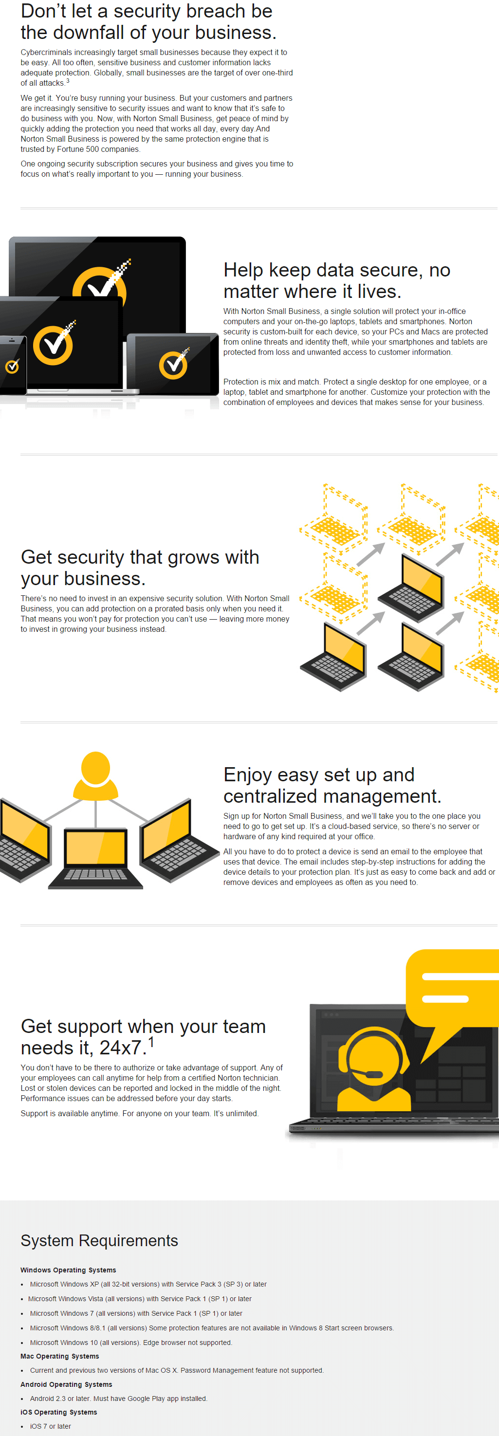 Norton Small Business key Features