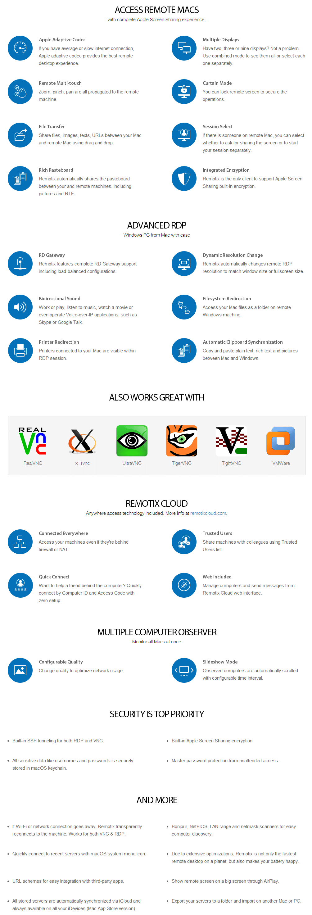Remotix for Mac 4 key Features