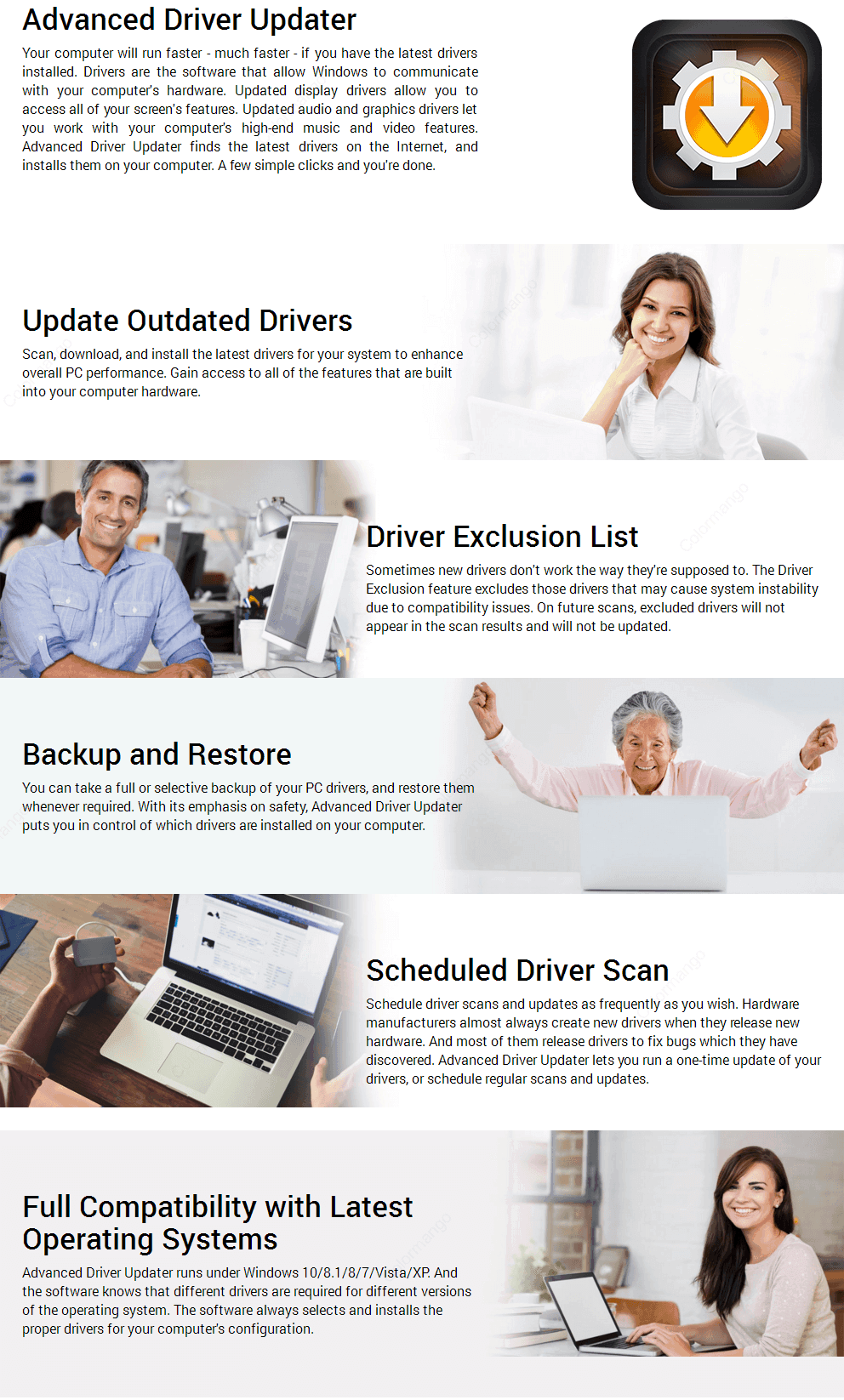 Advanced Driver Updater key Features