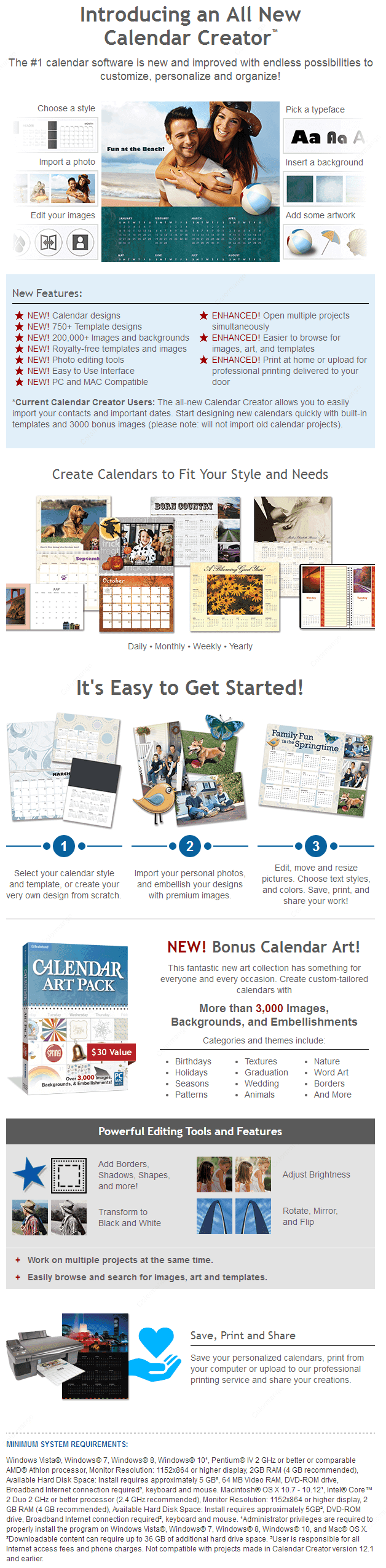 Calendar Creator Online Shopping, Price, Free Trial ...