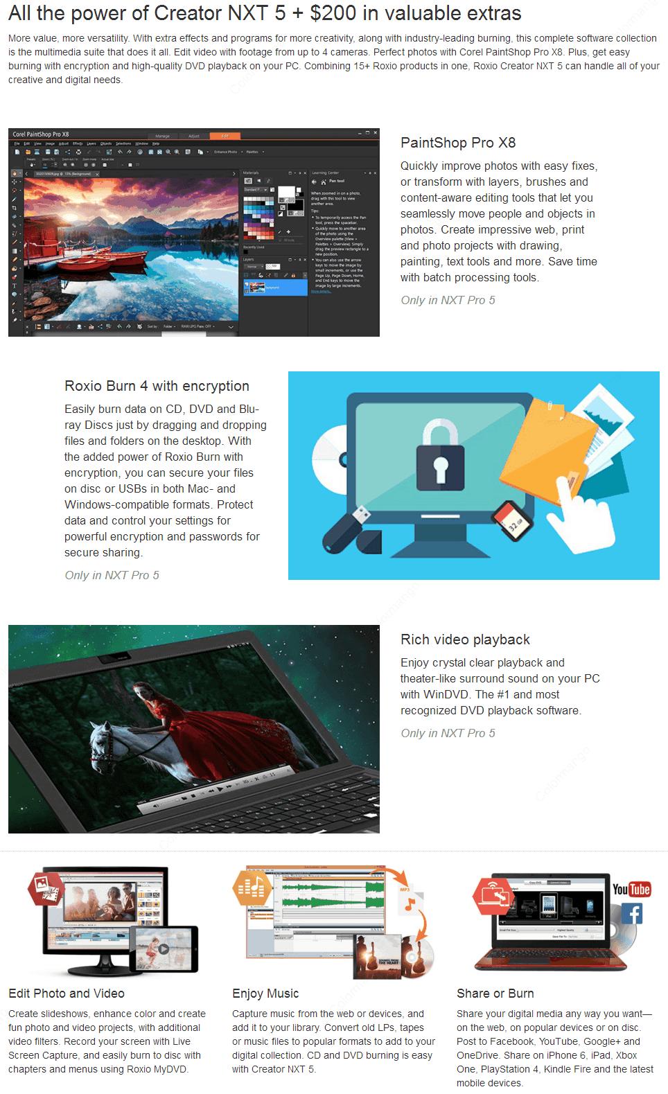 roxio creator nxt 5 user manual
