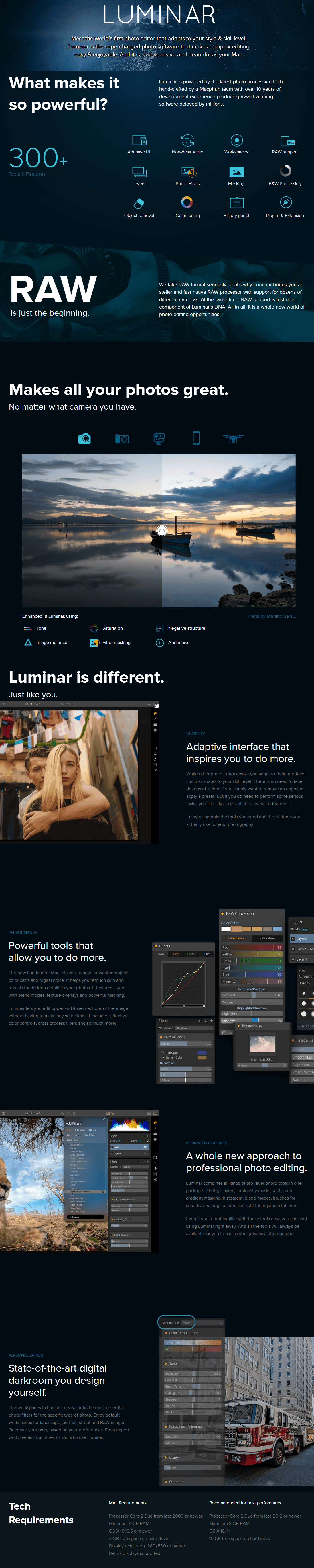 Luminar for Mac key Features