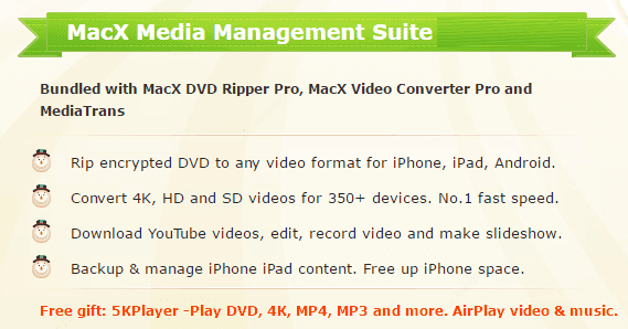 MacX Media Management Suite includings