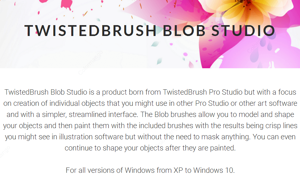 TwistedBrush Blob Studio key Features