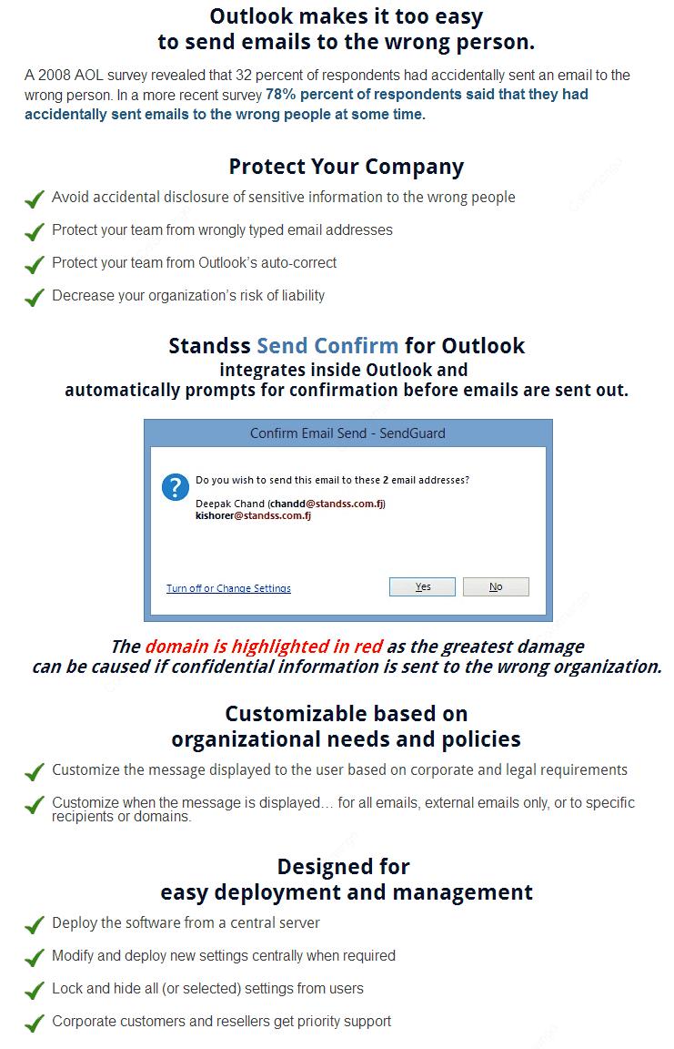 SendConfirm for Outlook