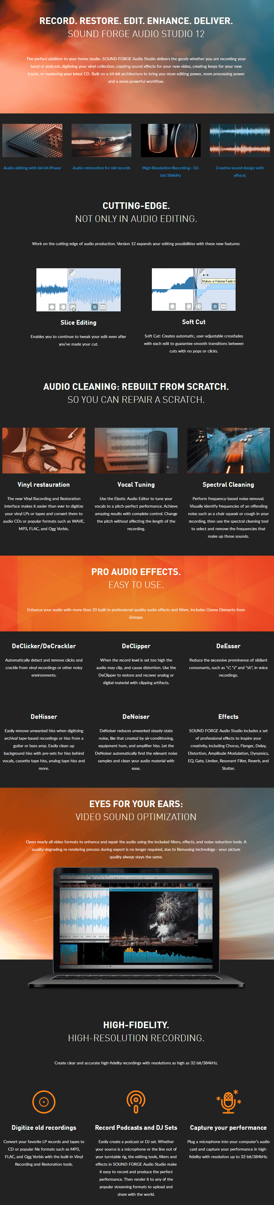 SOUND FORGE Audio Studio Feature