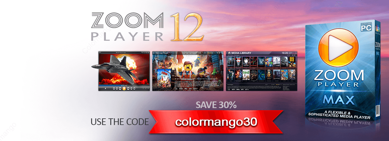 30% Instant Discount off ZOOM Player Max with the exclusive coupon at Colormango