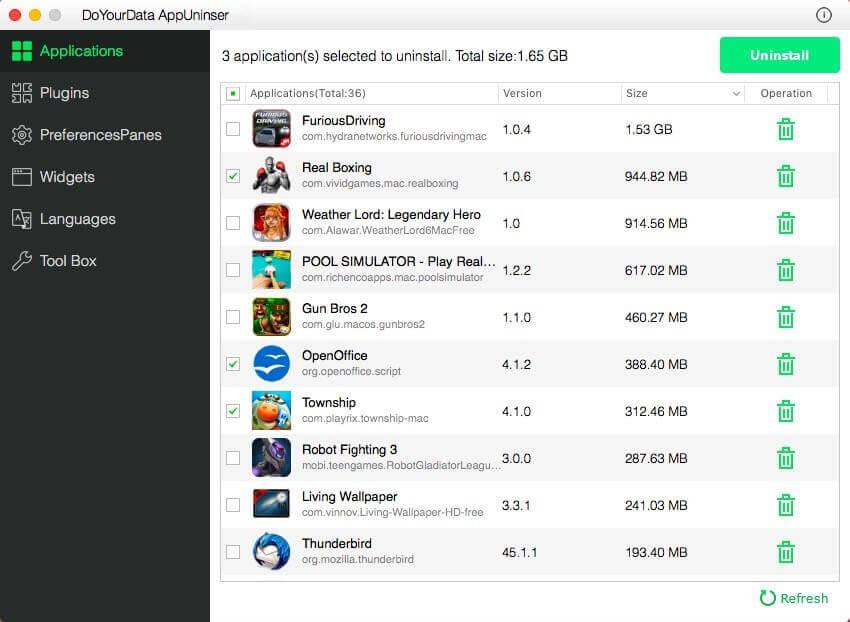 DoYourData AppUninser Screenshot
