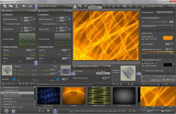 AbstractCurves Bildschirmfoto