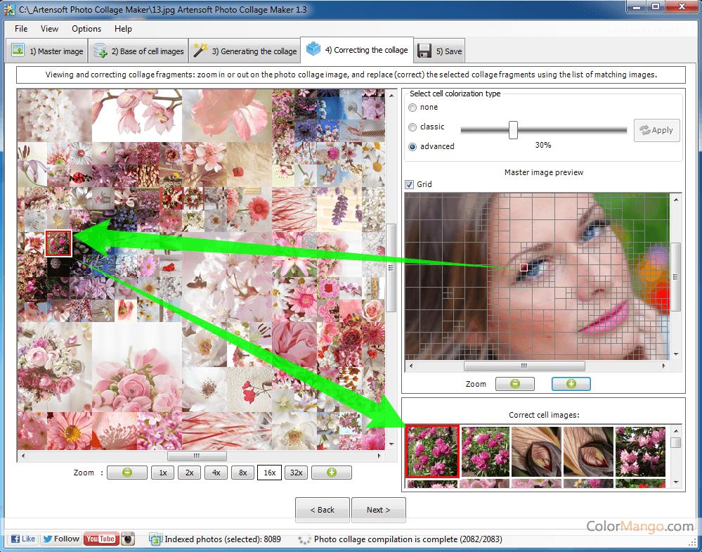 Artensoft Photo Collage Maker スクリーンショット