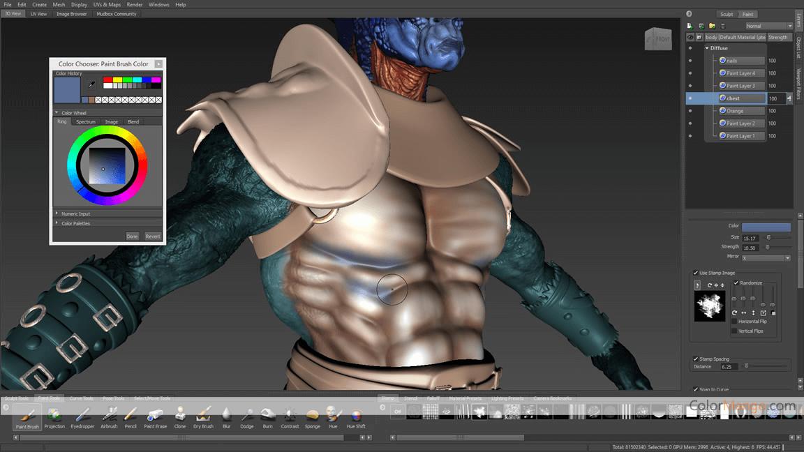 Autodesk Mudbox Screenshot