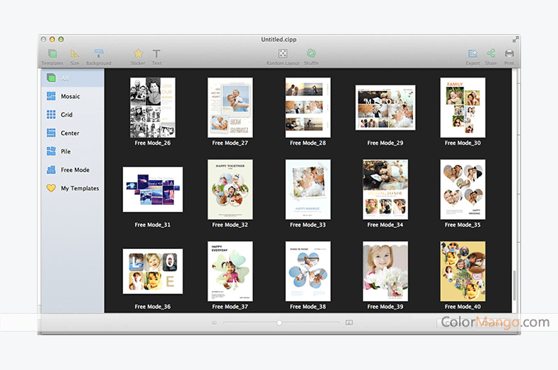 CollageIt Pro for Mac Screenshot