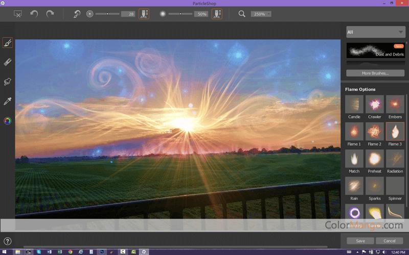 Corel ParticleShop Screenshot