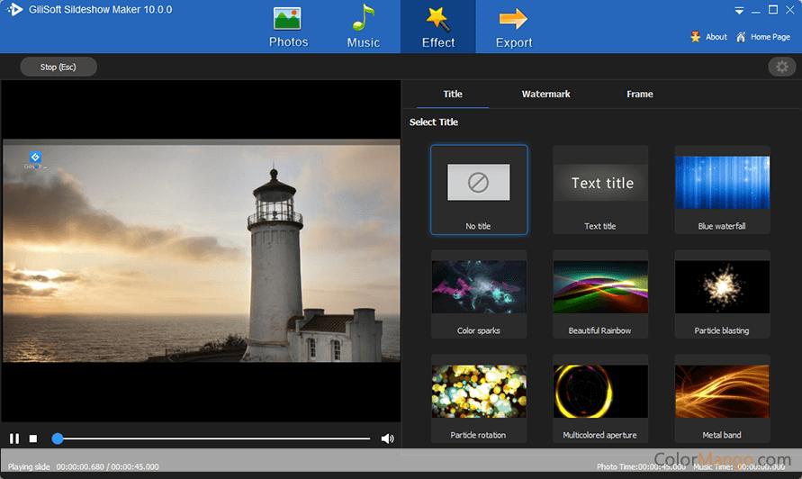 Gilisoft Slideshow Movie Creator Screenshot