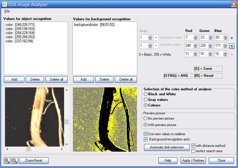 GSA Image Analyser Screenshot