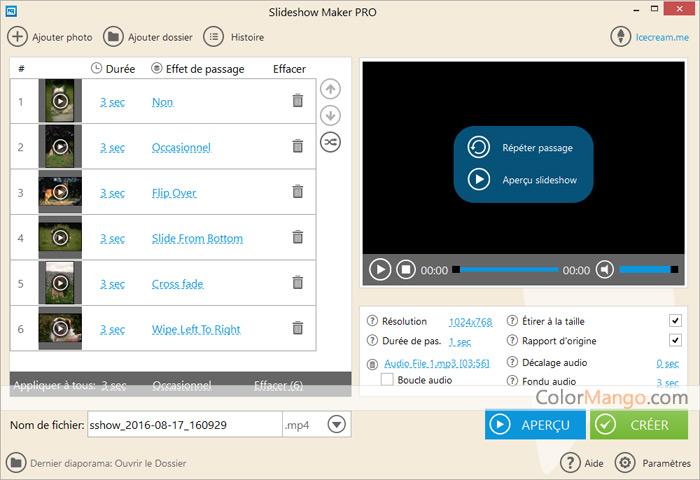 Icecream Slideshow Maker Pro Capture D'écran