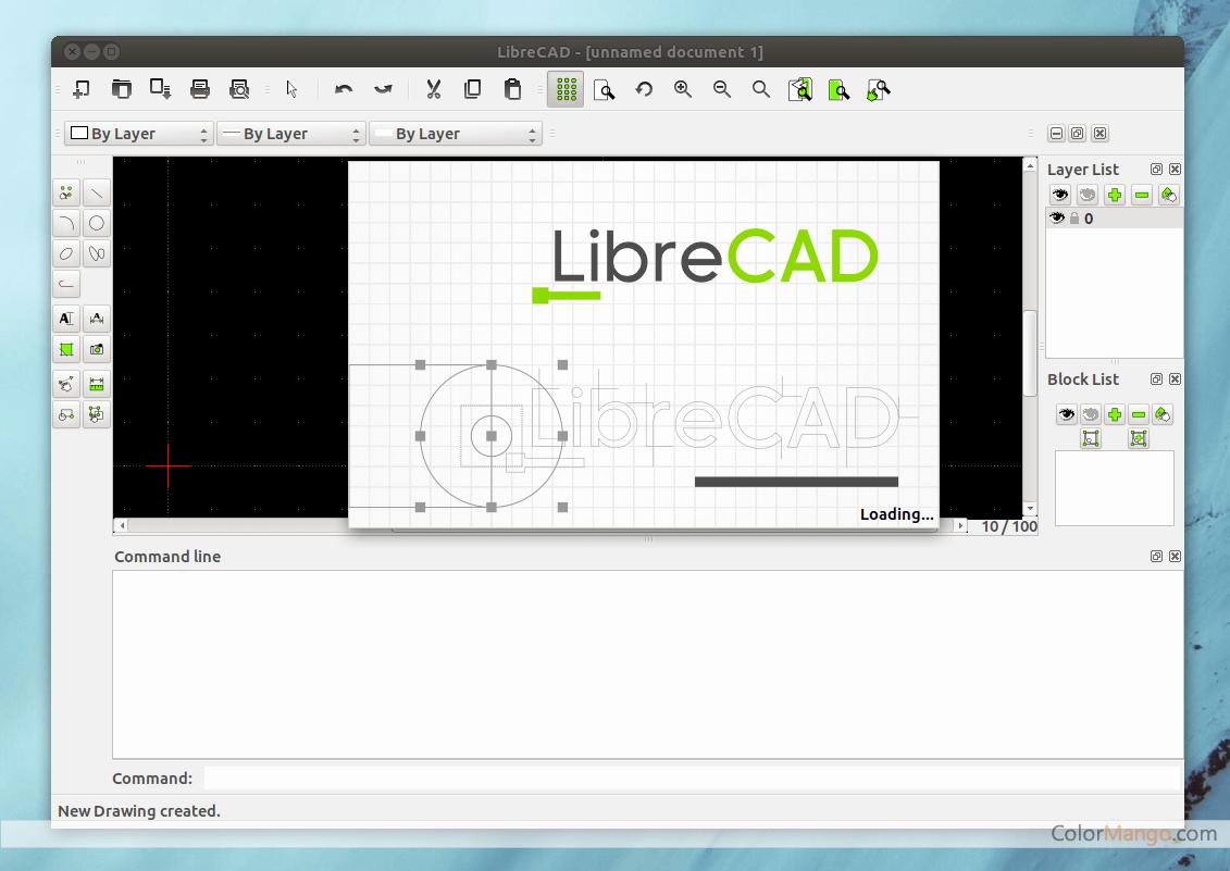 LibreCAD Capture D'écran