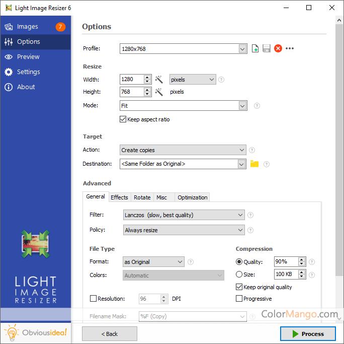 Light Image Resizer Screenshot