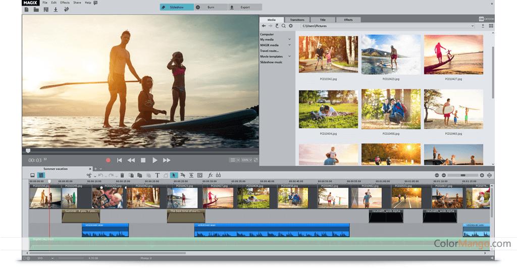 MAGIX Photo Premium Capture D'écran